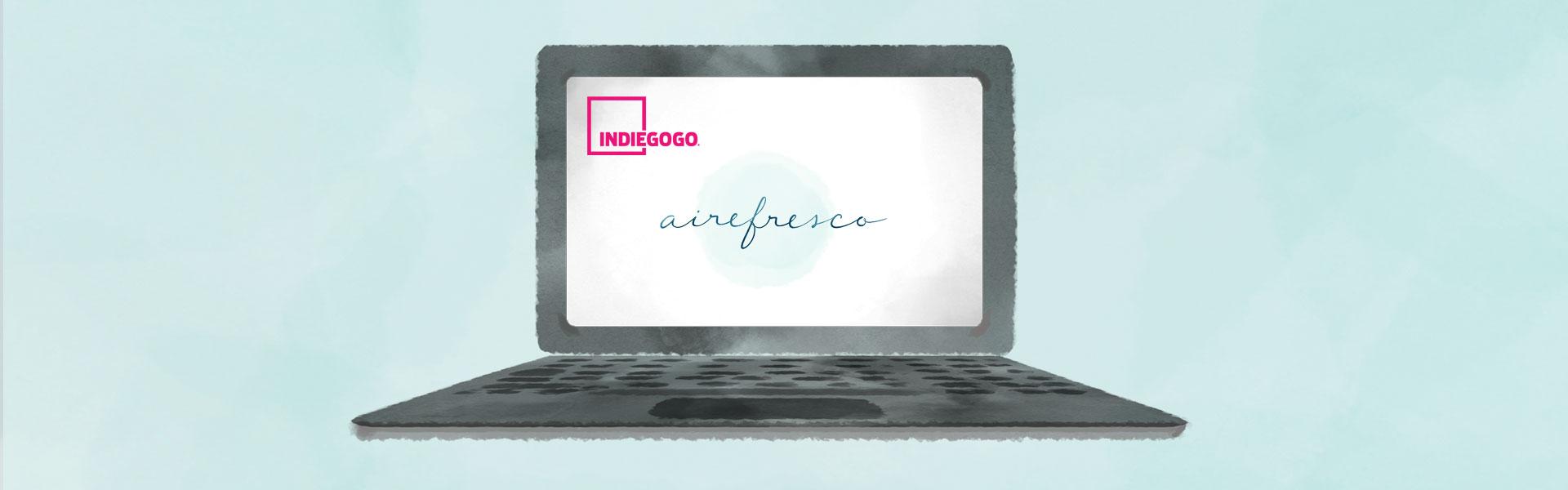 Aire Fresco Meditación y Mindfulness App Prelanzamiento Indiegogo Crowdfunding